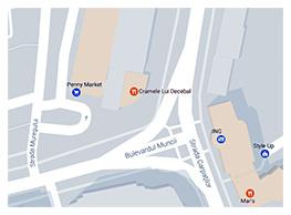 Harta locatie Laboratoarele Merlin
